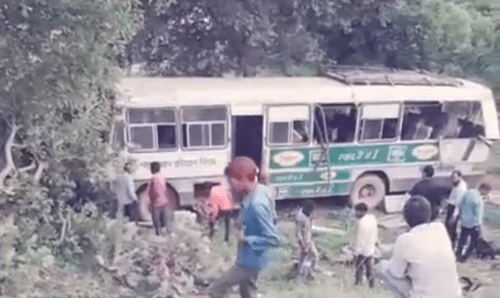 Bus tumbles into valley after brake failure