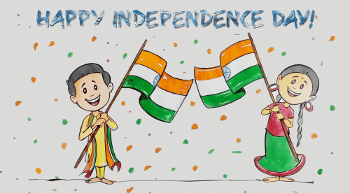 Drawing competition for kids at City Palace on Independence Day