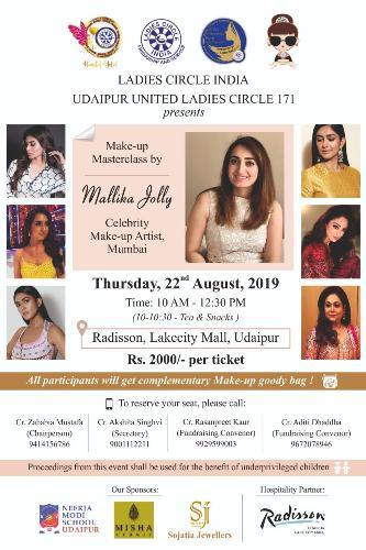 Celebrity Makeup Artist Mallika Jolly in Udaipur on 22 August | Join her MasterClass at Radisson