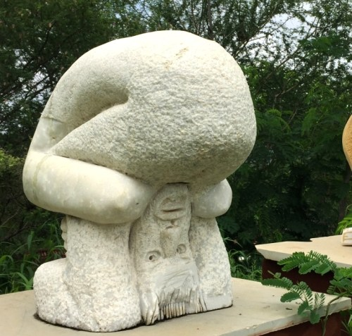 A lifeless stone becomes a family after it is sculpted
