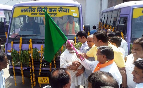 Kataria launches 8 City Buses, proposes 4 more buses from MLA quota