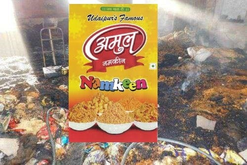 Fire in Amul Namkeen factory in Kaladwas