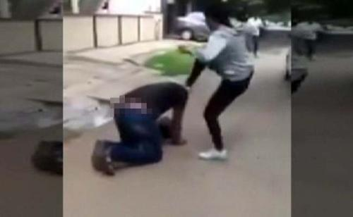 Woman beats shopkeeper for misconduct