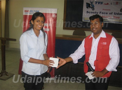 TVS Face of Udaipur 2010-  Vaidehi in Final