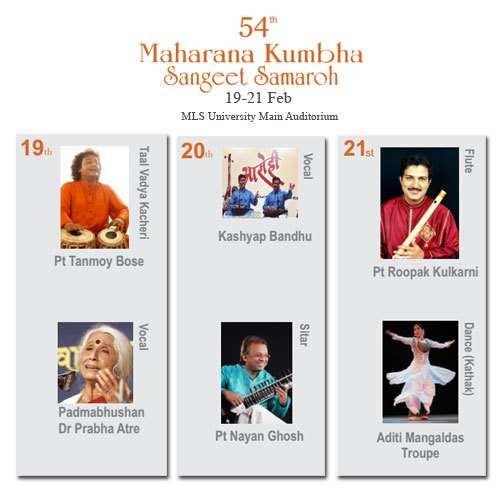 Kumbha Sangeet Samaroh to begin from 19th Feb