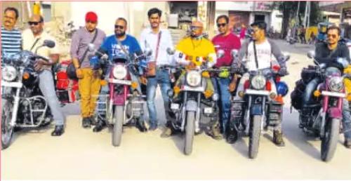 Bikers leave for Leh-Environment awareness campaign