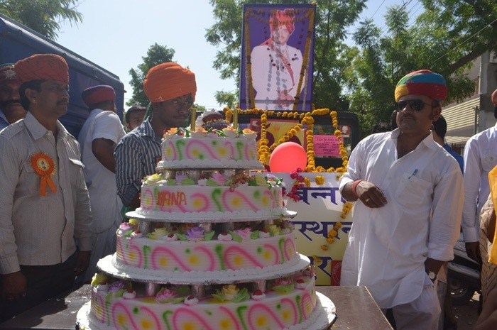 Procession Marks 57th B'day Celebration of 'Om Banna'