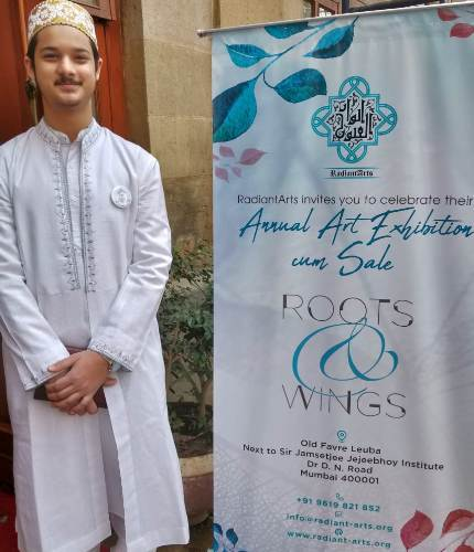 Udaipur boy Nasser recognised for his work at International Painting exhibition
