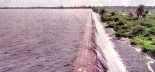 Vallabhnagar dam overflows-1.25 inch rain in 20 min