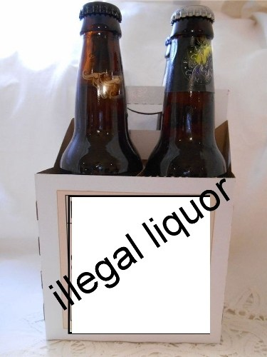 Liquor seized from a car in Hiranmagri
