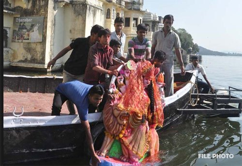 Devotees to do symbolic visarjan