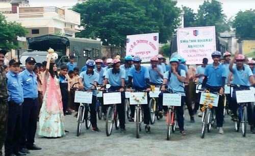 एनसीसी की पेन इंडिया साईकिल रैली उदयपुर पहुंची