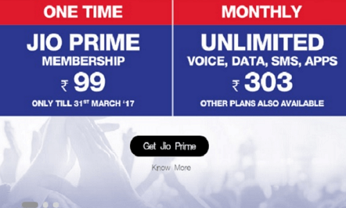 Reliance Jio Prime Membership Coupon- Avail your Cashback now