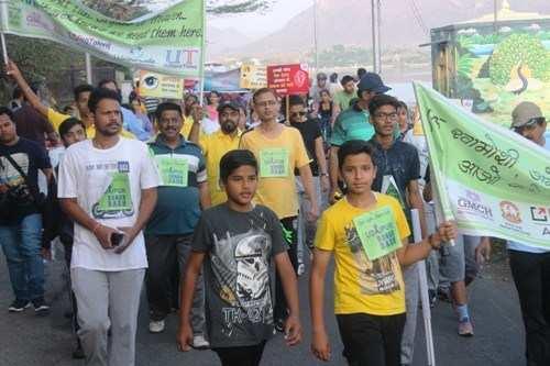 Greens of organ donation awareness sweep Fatehsagar once again