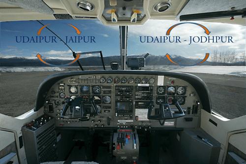 Nine Seater connects Udaipur Jaipur Jodhpur by Air
