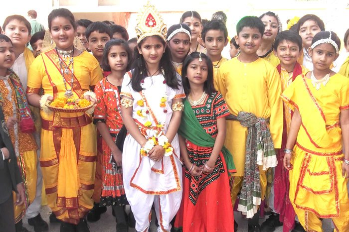 DPS Udaipur held Special Assembly for Basant Panchami