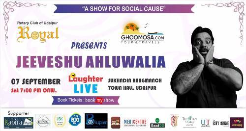 Comedy Show – LIVE | Jeeveshu Ahluwalia – 21 Ticket Counters across Udaipur | Collect your Tickets now!