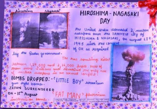 Hiroshima day observed at Seedling Udaipur