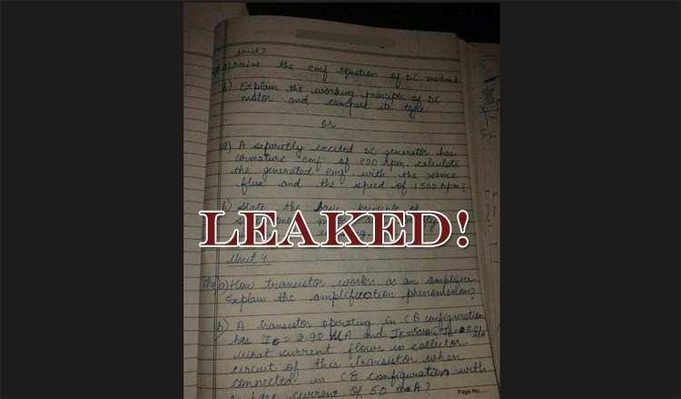 RTU's 1st Sem. Engineering Exam Paper 'Leaked'