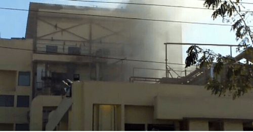 Fire in drugs factory in Madri