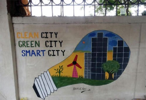 Message of Smart City through Graffiti