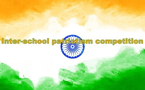 2000 students participating in Inter-school patriotism competition