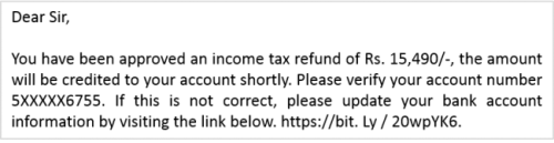 ALERT !! Income Tax Refund Fraud   Special 26 on your Phone – Reload that Pinch of Salt
