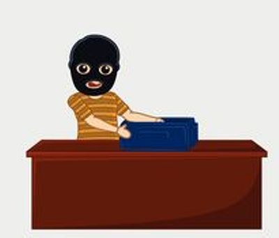 Boy escapes with 3 lakh rupees from bank