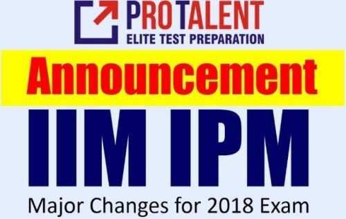 Major Changes to IPM-IIM Indore Examination 2018