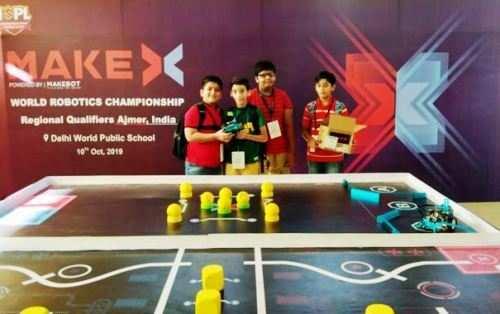 लेकसिटी के चार छात्र वर्ल्ड रोबोटिक चेम्पियनशीप में रहे विजेता, अब नेशनल चेम्पियनशीप में लेंगे भाग