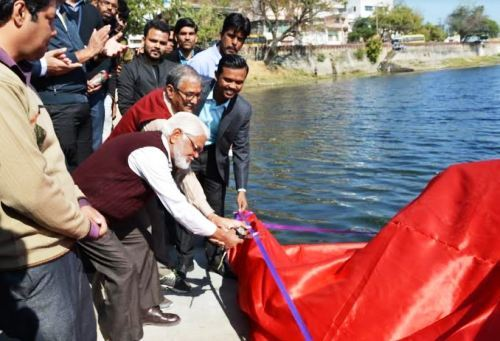 My first day as a Press Reporter – Inauguration of Lake Cleaning machine and meeting Geo Scientists