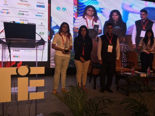 Udaipur swimmer Bhakti Sharma awarded by TiE & Reebok