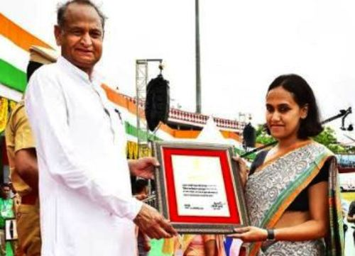 Udaipur Collector Anandi awarded as Best Collector