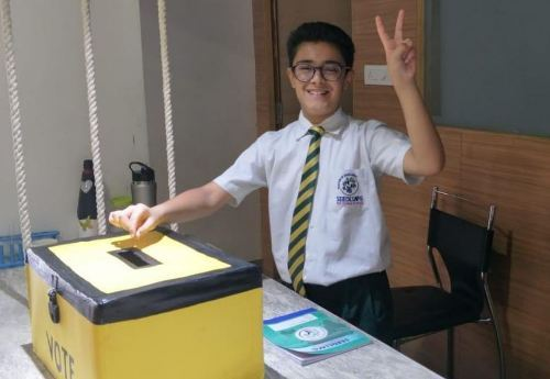 Student Council Elections at Seedling – Students get first hand experience of casting Votes and Elections