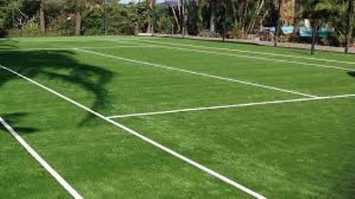 Synthetic lawn tennis courts in MLSU