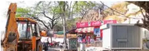 Illegal kiosk removed from Fatehsagar chowpati