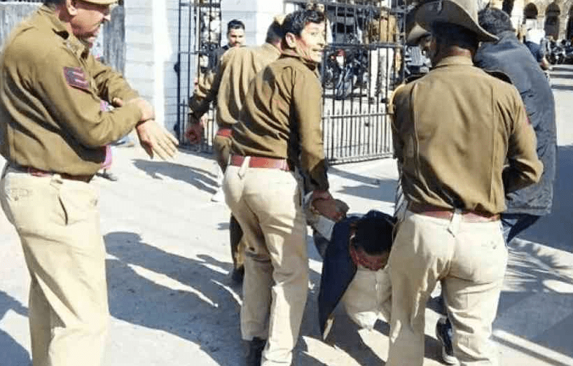 Man attacks police with knife and burning cloth inside Collectorate