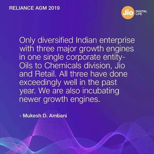 दुनिया की सबसे तेजी से बढ़ती डिजिटल सेवा कंपनी, जियो ने भारत को डेटा शाइनिंग बनाया