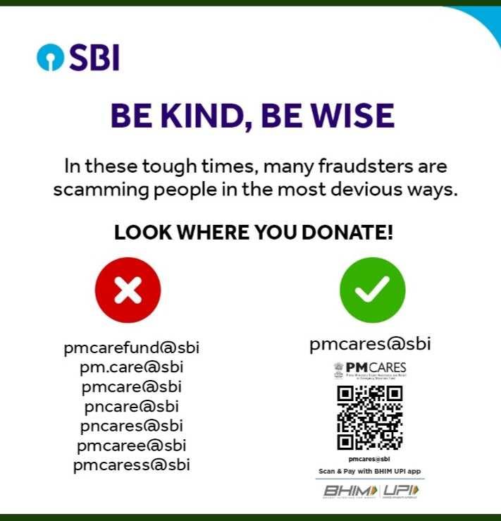 कोरोना प्रभावितों को दान करते समय रखे विशेष ध्यान - Beware of Cyber Crime