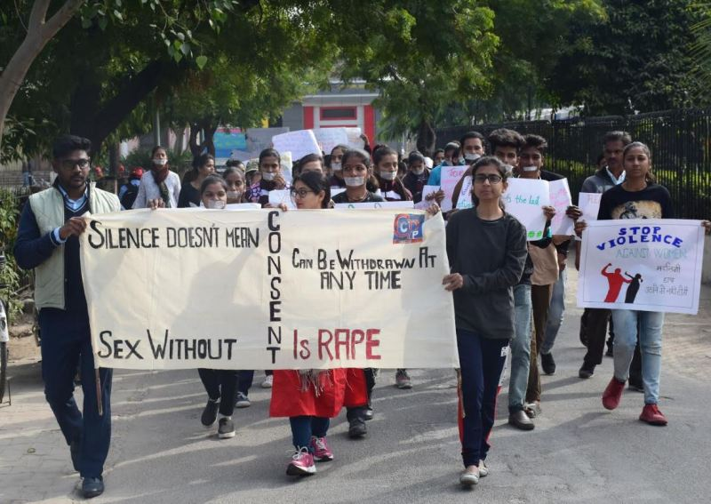 Criminologists take out awareness rally against sexual violence